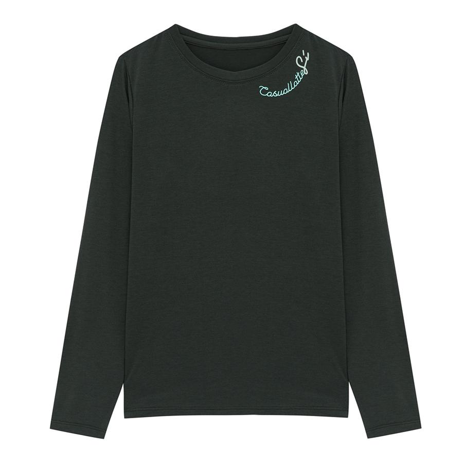 씨 여성용 라운드 레터 긴팔 티셔츠 SCIBB2804