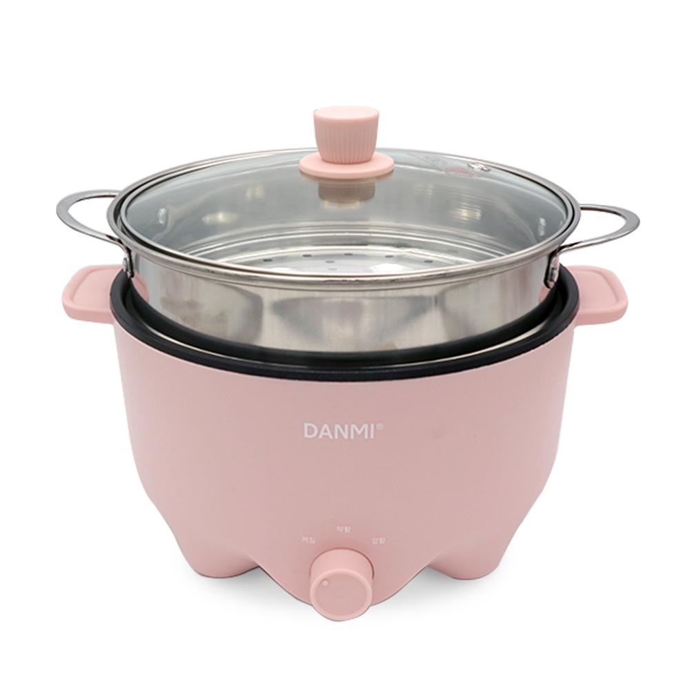 단미 멀티 쿠커 + 전용 찜기 세트 3L, DA-MEK01, DA-ST05(핑크)