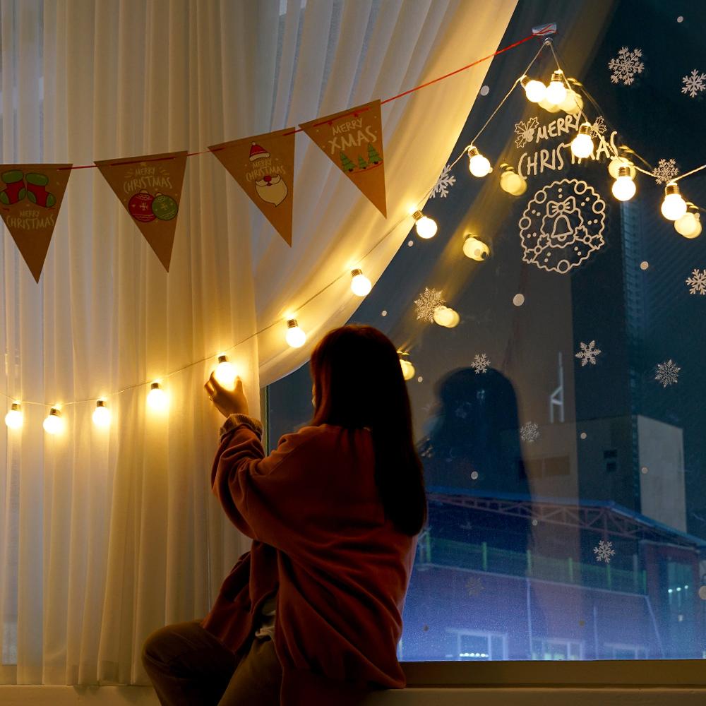 데이홈 이즈휴 LED 소켓전구 크리스마스 세트 30구, 혼합색상