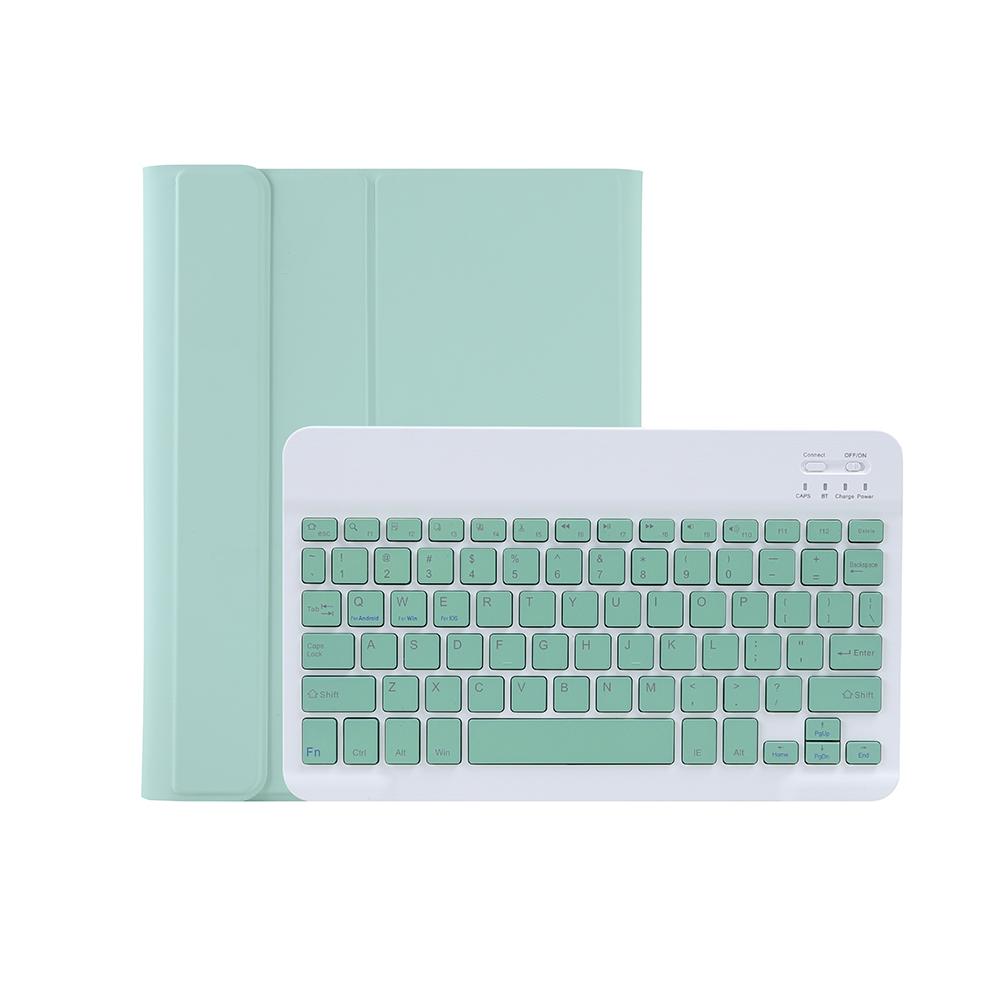 디플 애플펜슬거치가능 다이어리형 태블릿PC 케이스 + 블루투스 키보드 T11B, 민트
