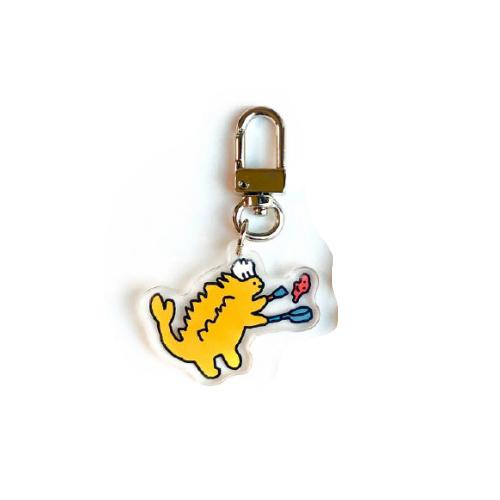 조구만스튜디오 하찮은 공룡 아크릴 키링, 노랑(요리하는 안킬로사우루스), 1개-26-4854097637
