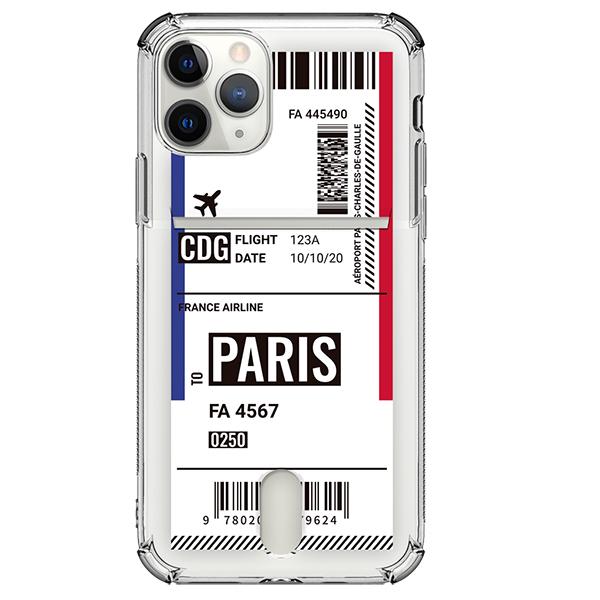 저스트포유 보딩 투명방탄 카드 휴대폰 케이스