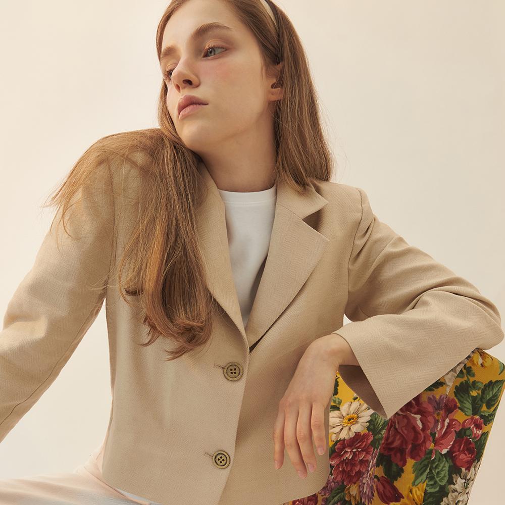 시티브리즈 여성용 Herringbone Linen Jacket