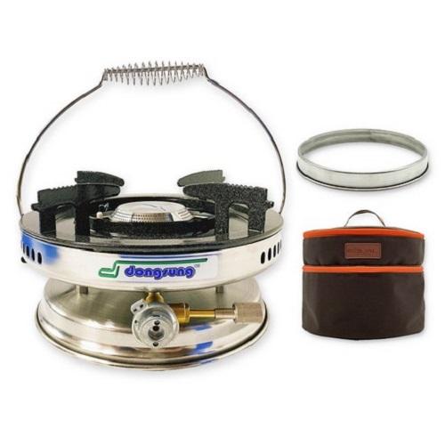 동성 부탄가스용 해바라기 버너 DSR1005-1 + 이지 링가드 바람막이 + 전용가방, 혼합색상, 1세트
