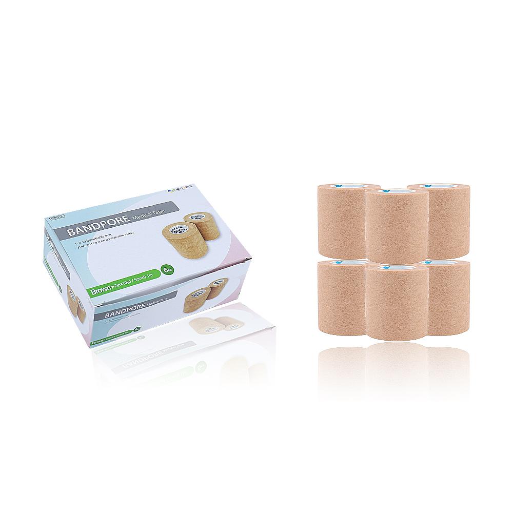 밴드골드 포어 의료용 종이 반창고 갈색 6p, 1개 (POP 1500089137)