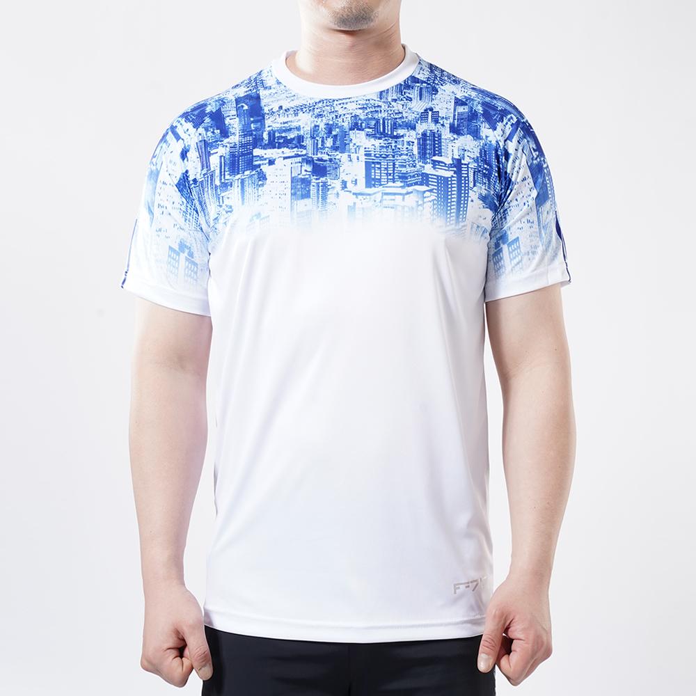 아르꼬 남성용 쿨 스트레치 펀칭 메쉬 시티 그래픽 테크핏 반팔 라운드 티셔츠