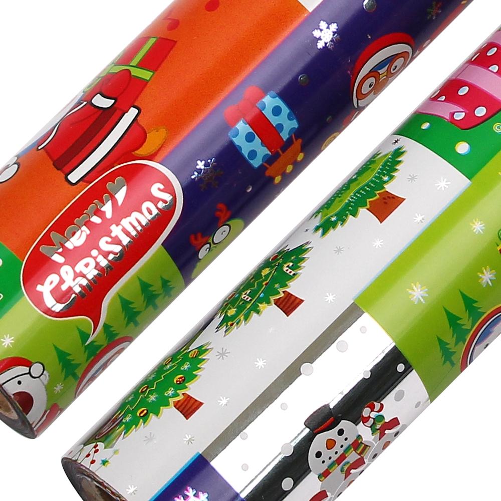 포포팬시 뽀로로 크리스마스 비닐 증착 롤 포장지 18m, 군청, 2개