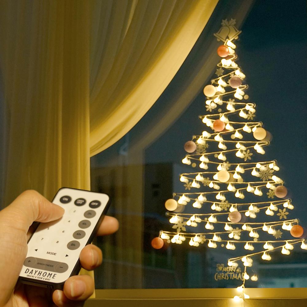 데이홈 이즈휴 LED 벽트리 앵두전구 세트 100구, 웜화이트(전구), 혼합색상