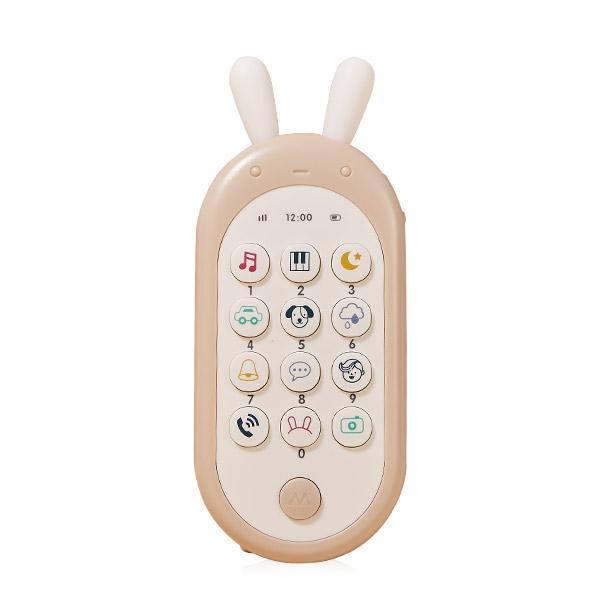 하베브릭스 아기토끼 핸드폰 장난감 멜로디완구, 혼합색상