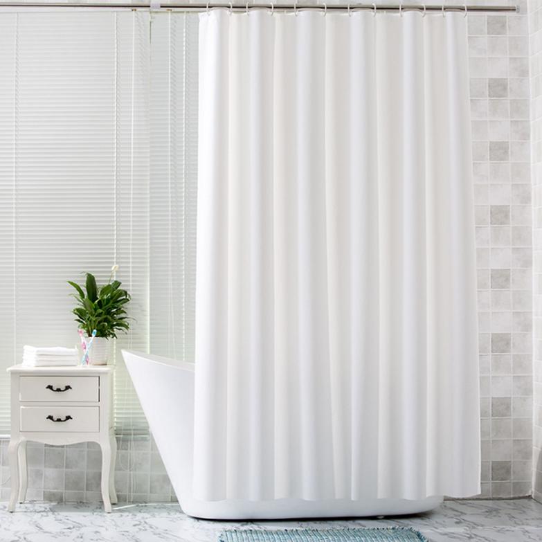 [샤워커튼] 제이라이프 욕실 샤워커튼 민무늬 화이트, 1개 - 랭킹10위 (12900원)