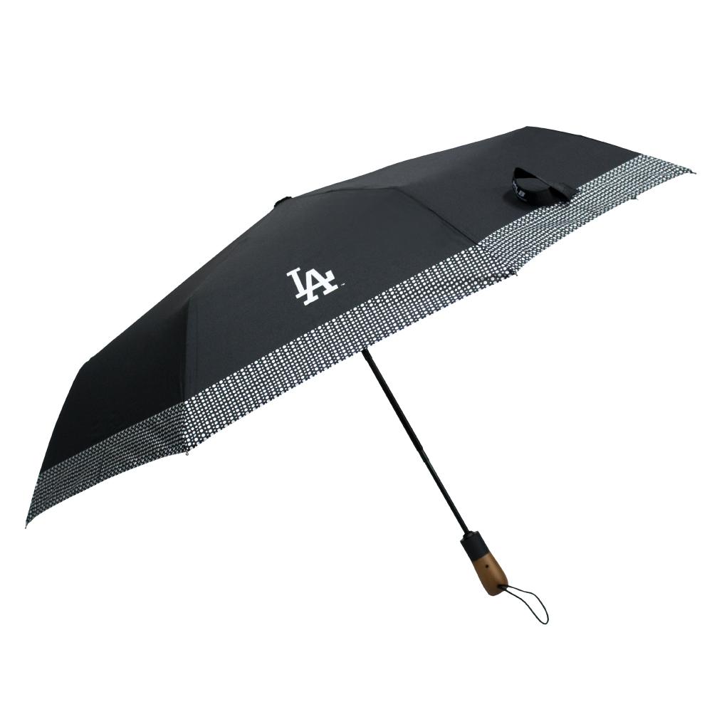 MLB LA다저스 보더 패턴 3단 자동 우산