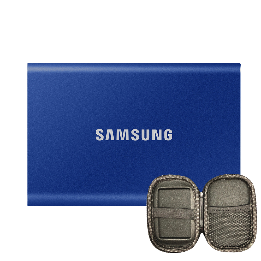 삼성전자 외장SSD T7 MU-PC2T0H/WW + 파우치, 인디고 블루, 2TB