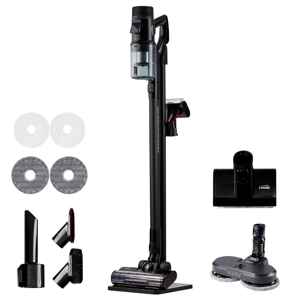 리하스 프리미엄 무선청소기 LH20 + 물걸레키트 + 충전거치대, 블랙