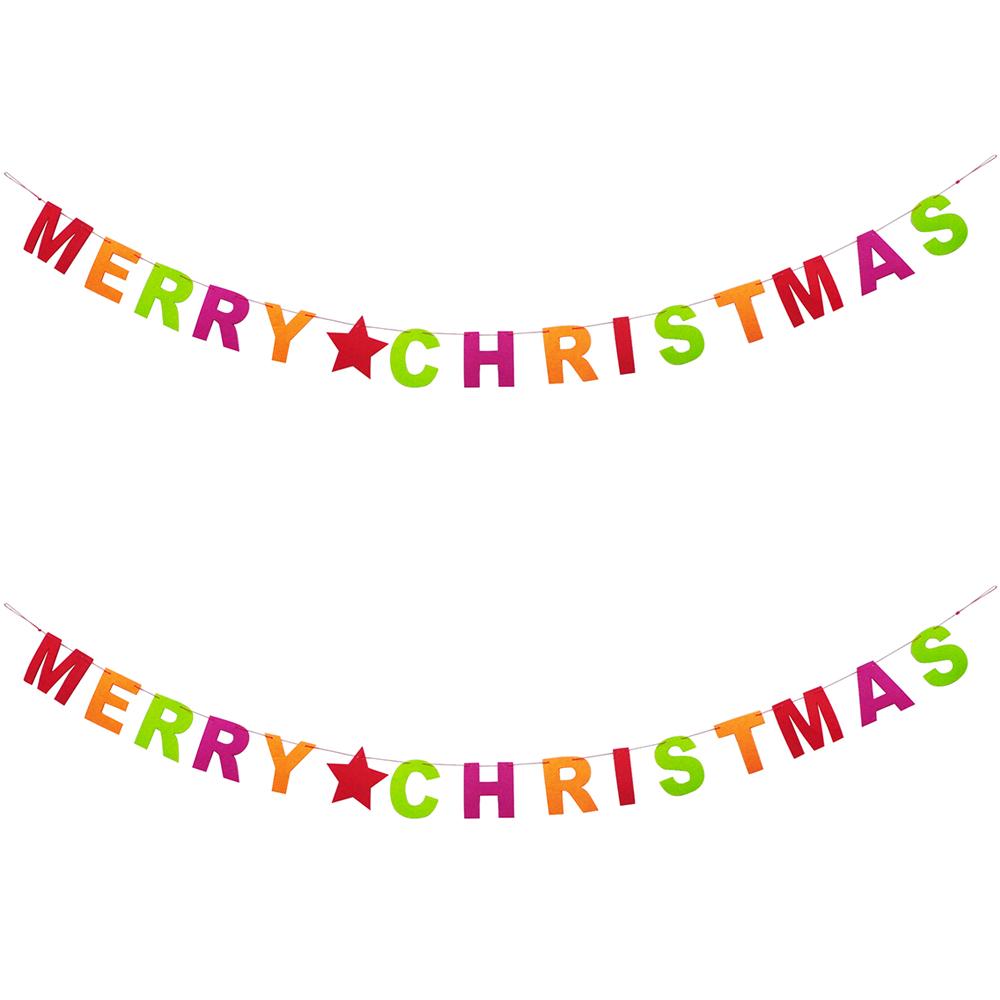 파티쇼 펠트 가랜드 소 크리스마스 2p, 혼합색상