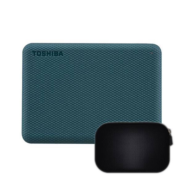 칸비오 어드밴스 2세대 외장하드 DTCA40 + 파우치, 에메랄드 그린(외장하드), 4TB