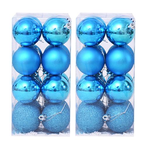 파티해 믹스볼 트리 장식 세트 16p x 2세트, 블루