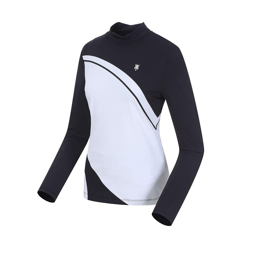 톨비스트 여성용 극배색 터틀넥 티셔츠 GABS2-WKE120