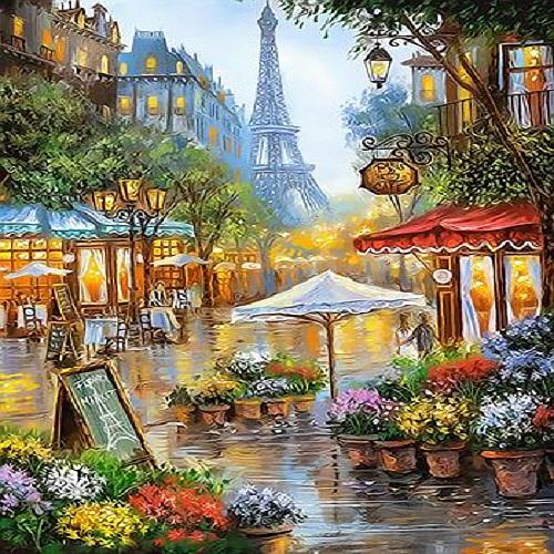 피포페인팅 DIY 명화그리기 세트, 파리의 거리