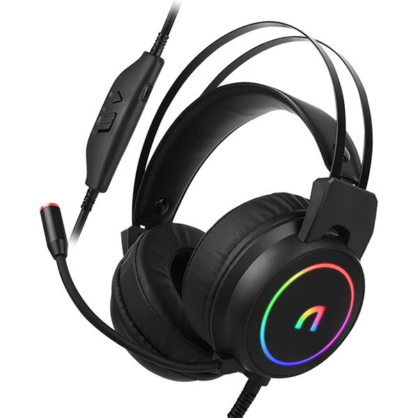 앱코 가상 7.1 ENC 초경량 RGB 게이밍 헤드셋, 블랙, N500-13-5808571718