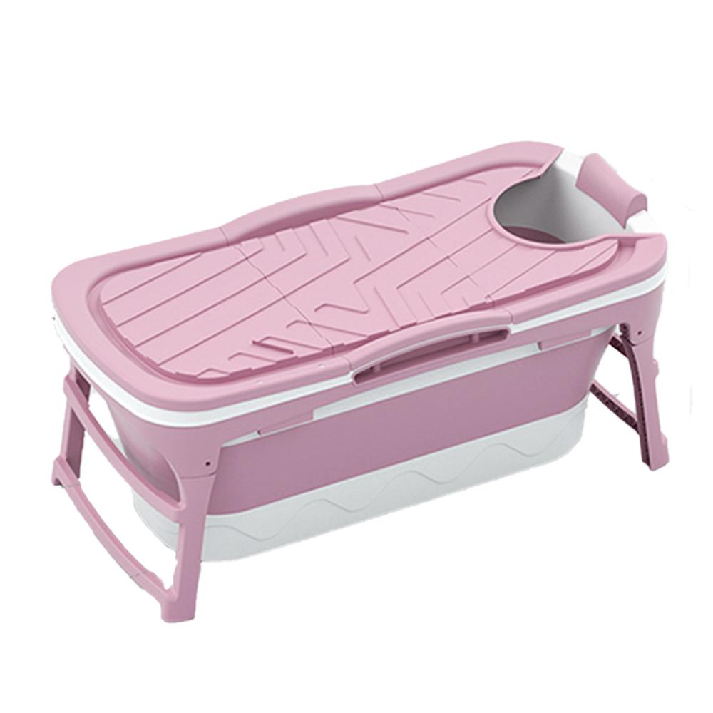 굿빌리지 성인용 접이식 반신욕조 특대형, 핑크
