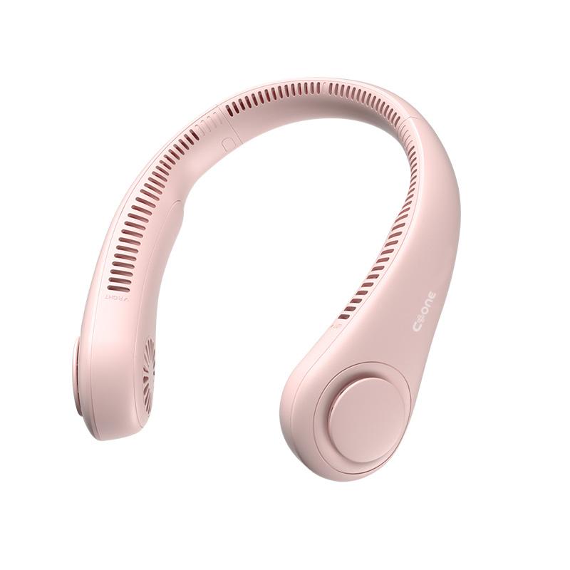 C.ONE 넥밴드 휴대용 선풍기, 핑크, c.one-4000P