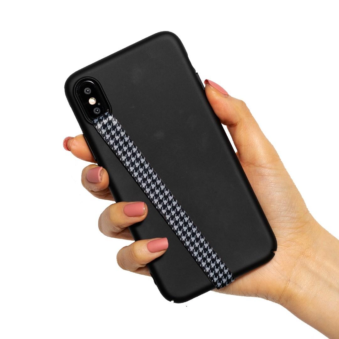 하이루프 휴대폰 핑거 스트랩, 32 HOUND TOOTH BLACK, 1개