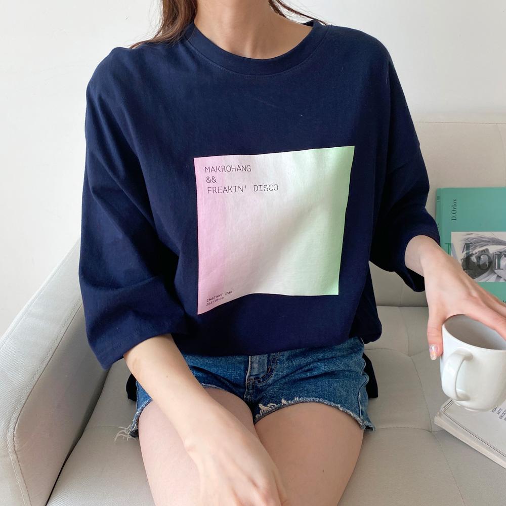 여성용 오시카 프린팅 티셔츠 T6619K13