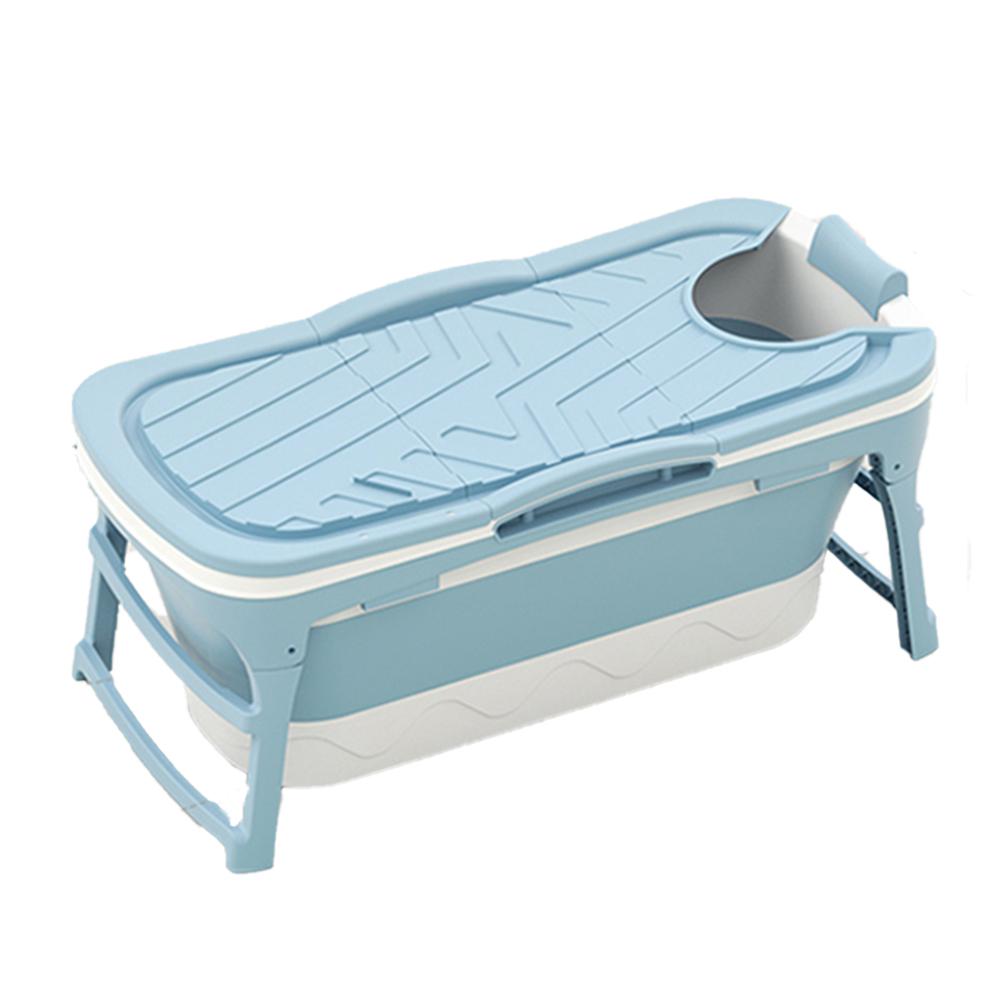 굿빌리지 성인용 접이식 반신욕조 특대형, 블루 (POP 4348869603)