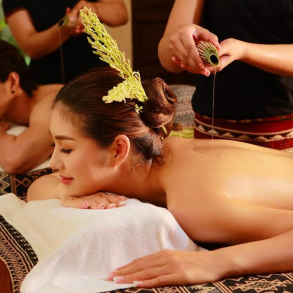 [태국]  치앙마이  치앙마이의 스리 만트라 스파 전통 란나 타이 마사지