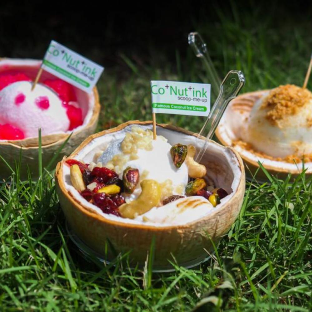 [싱가포르] |싱가포르| 코+넛+잉크 퍼퓰러 프리미엄 디저트 코코넛 아이스크림