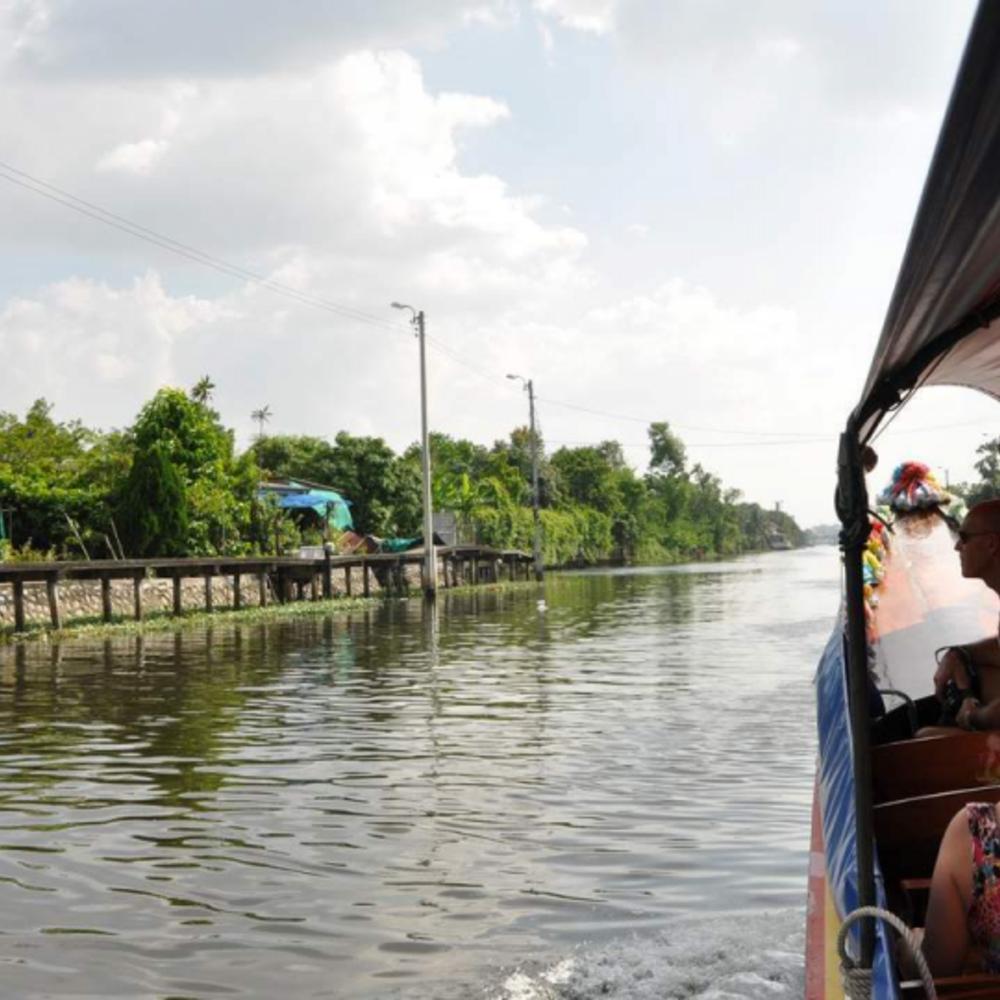 [태국]  방콕  방콕 현지 & 근교 자전거 투어 보트 콤보  (5시간)