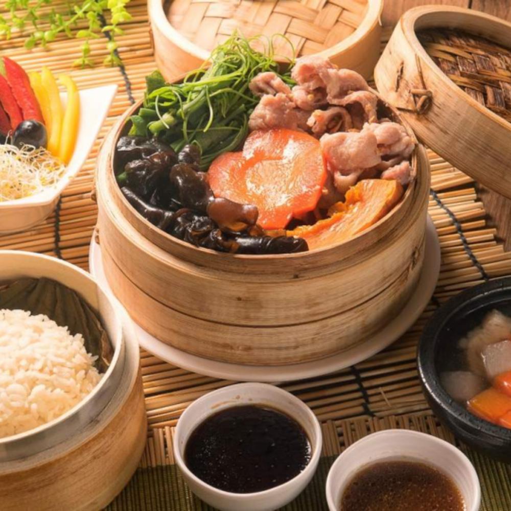 [대만] |타이페이| 시아 로터스 리프 라이스 머쉬룸 & 치킨    세트