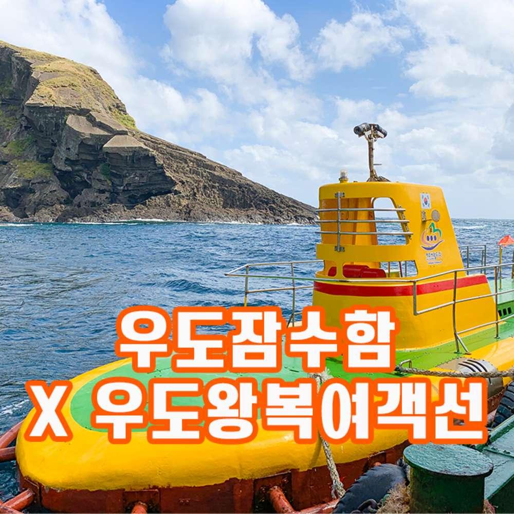 [제주] 우도잠수함+우도왕복여객선 (09시이후이용가능)