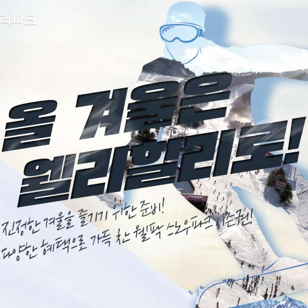 [강원] 2020 웰리힐리파크 시즌권 특가1차 워터플래닛권