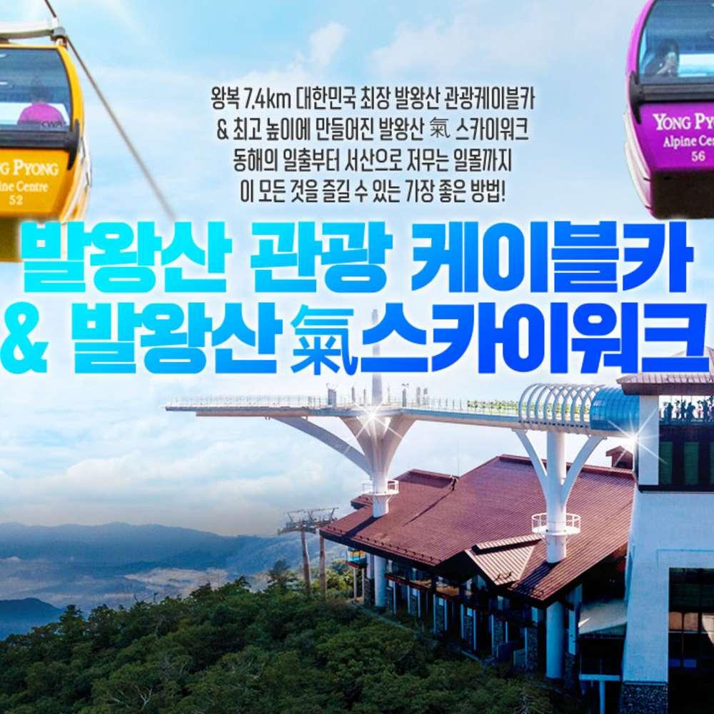 [평창] 용평리조트 발왕산 케이블카&氣스카이워크(~9.30)