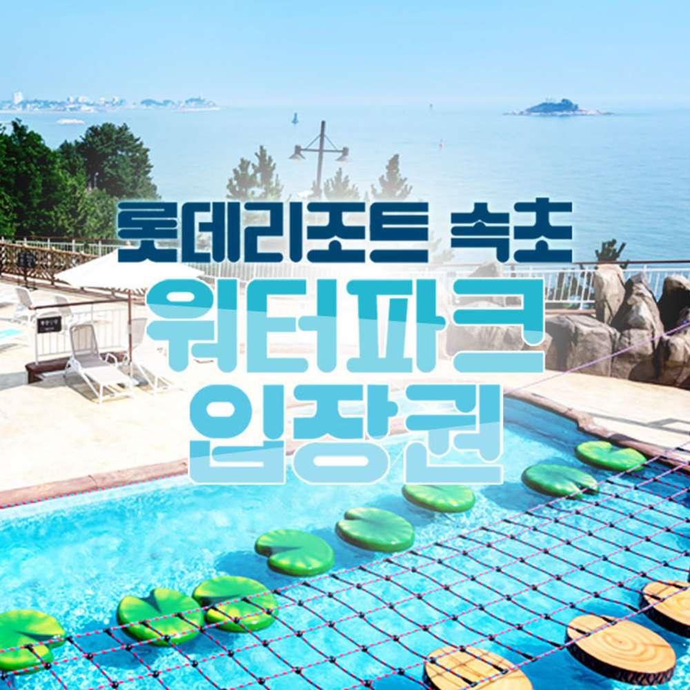 [속초] 롯데리조트 속초 워터파크 극성수기 입장권(~8.22)