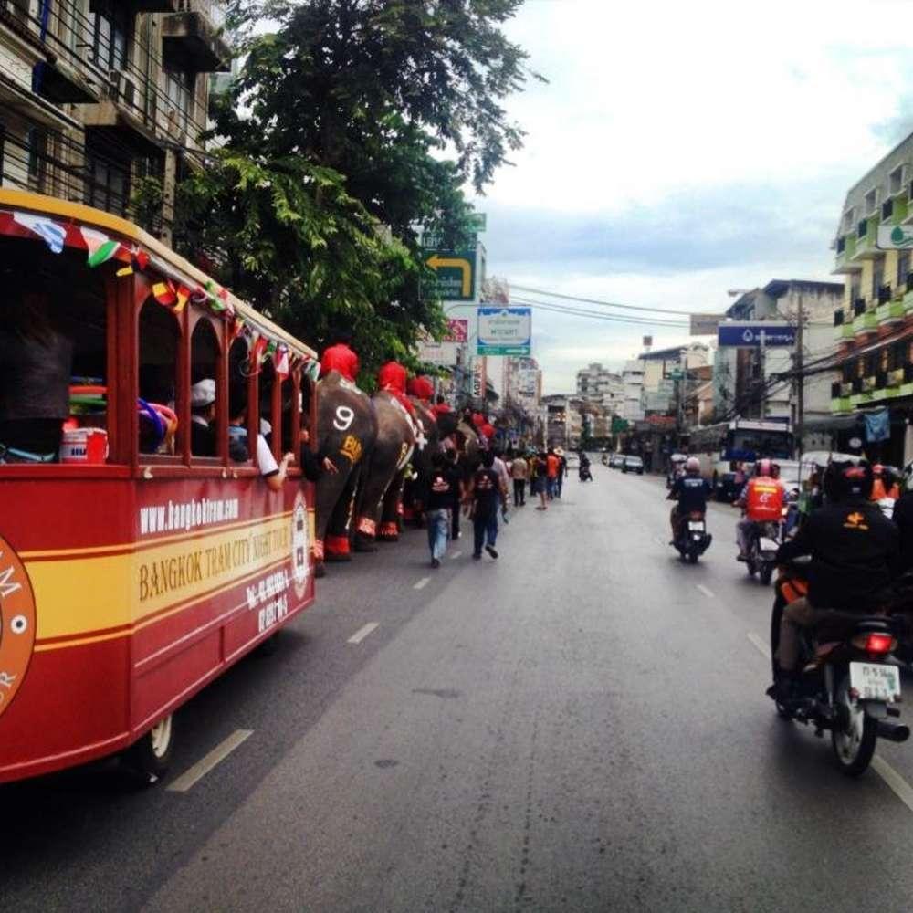 [태국, 방콕] [투어] 방콕 올드타운 트램 나이트 투어 (태국/방콕)
