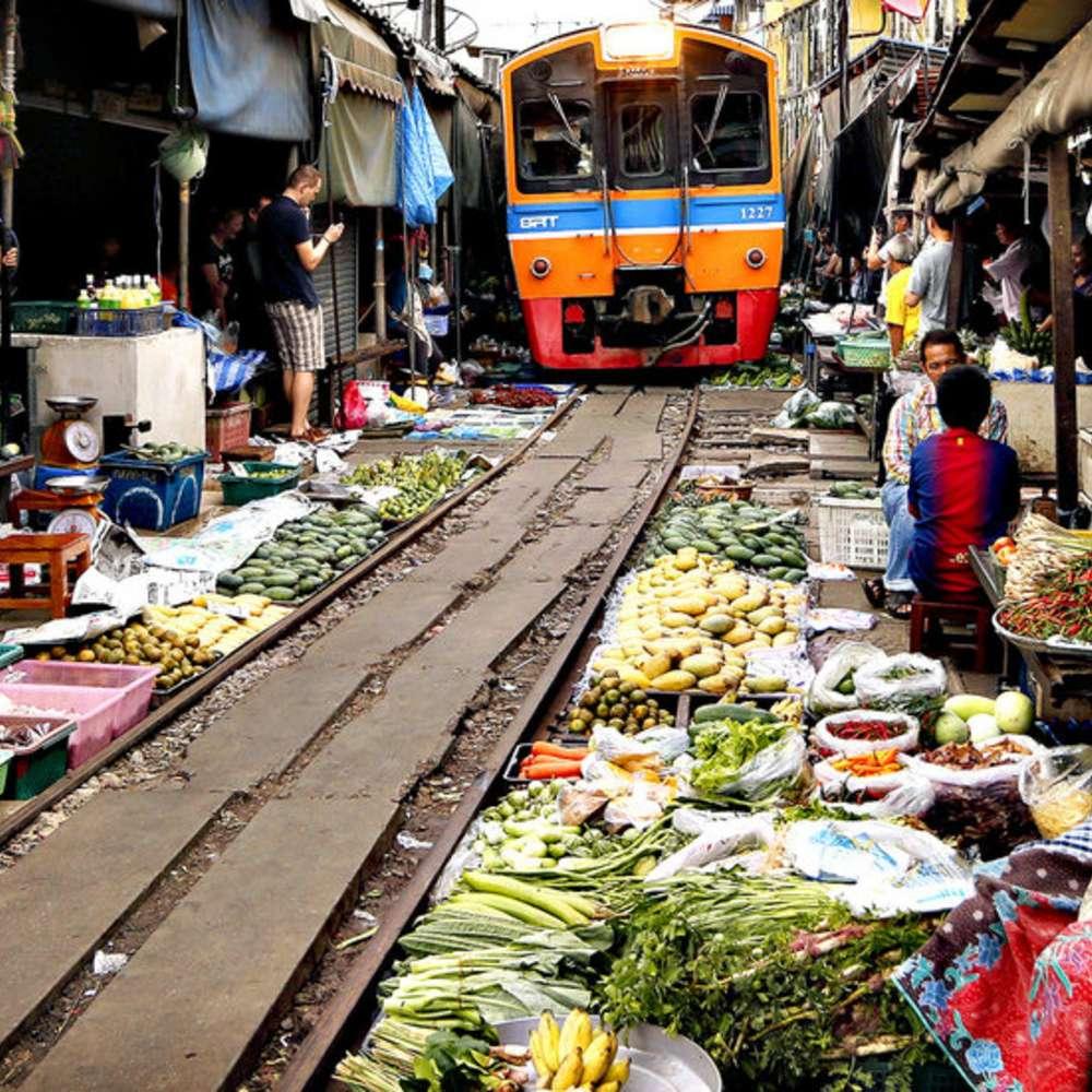[태국/방콕] [투어] 방콕 우리끼리 담넌사두억 수상시장 + 매끌렁 기찻길시장 단독투어