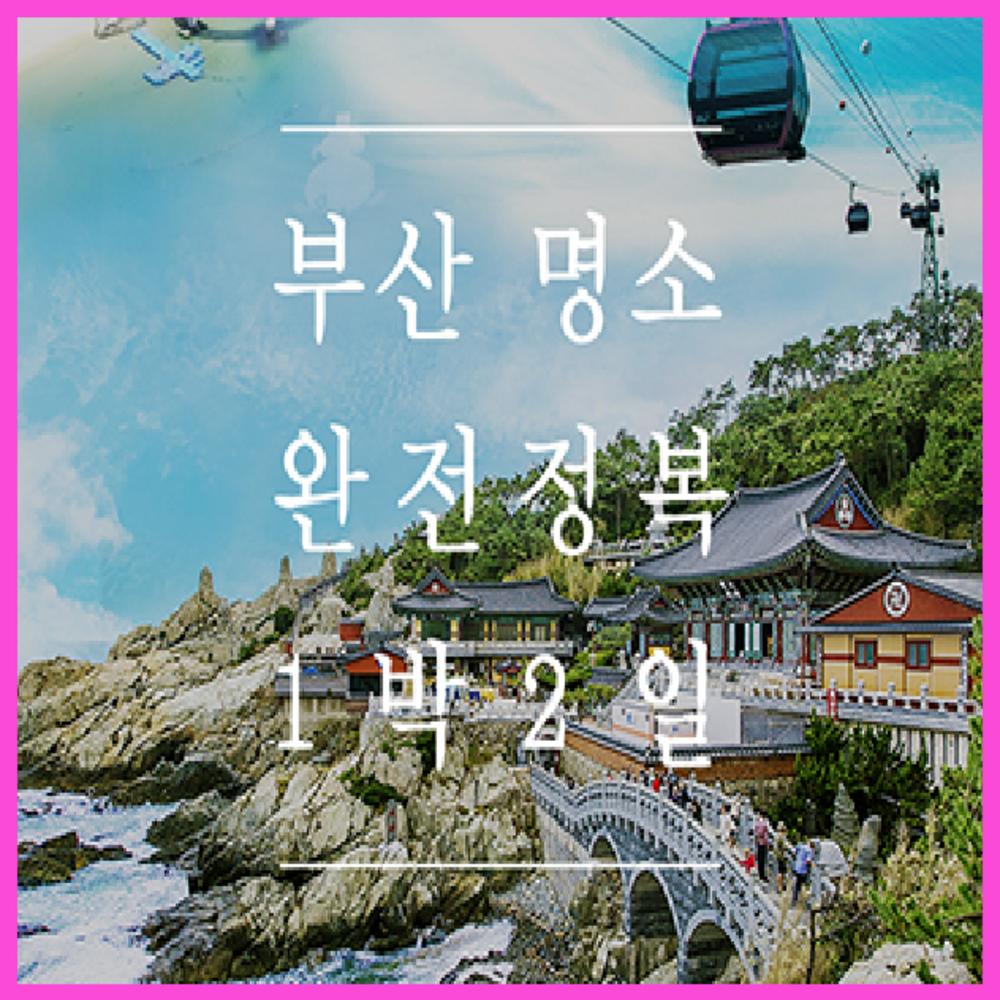 [부산] ★서울/대전出★부산 명소 완전정복 1박2일 (모텔숙박)