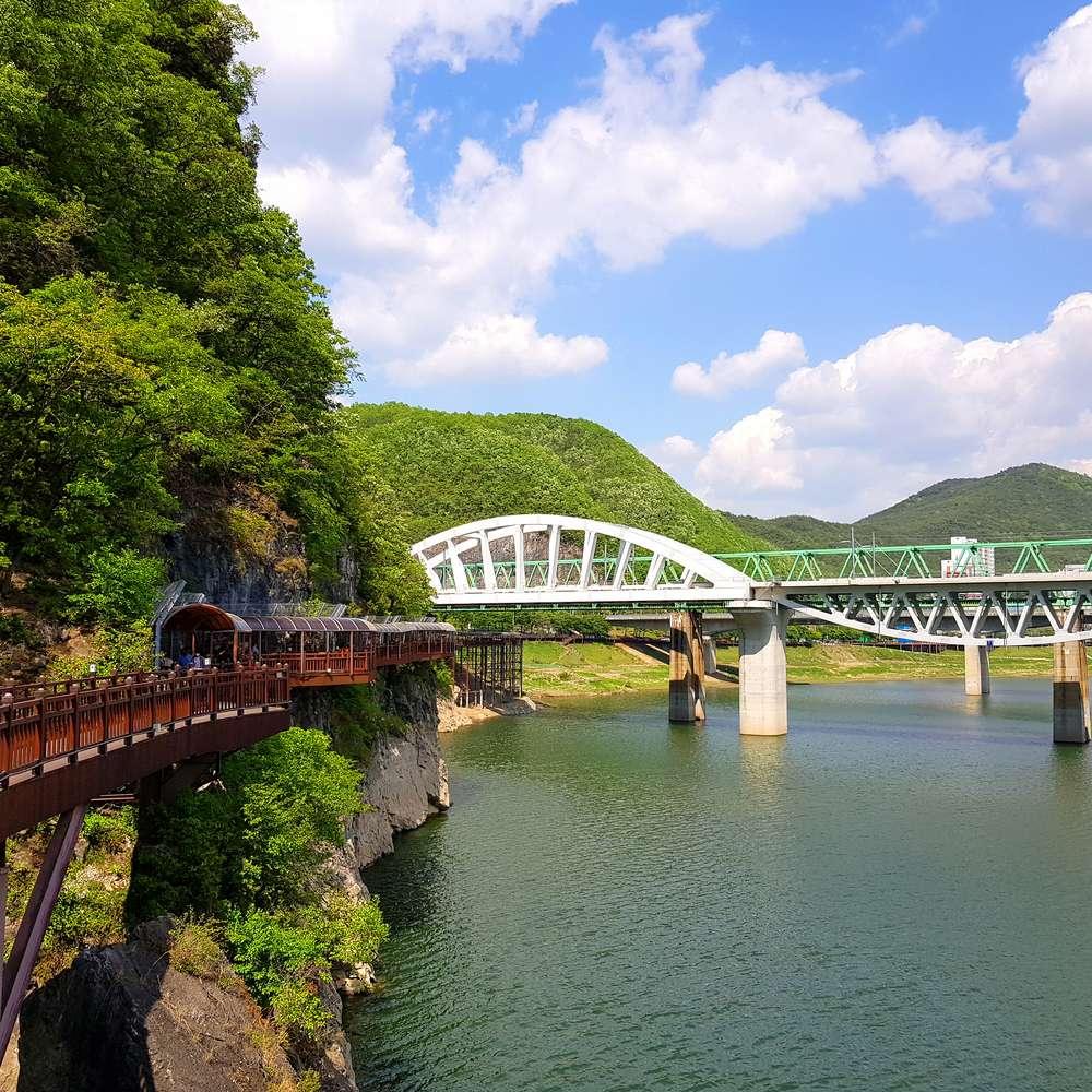 [강원] [원주여행+단양여행] 잔도길+만천하스카이워크+치악산구룡사+원주중앙시장(당일버스여행)