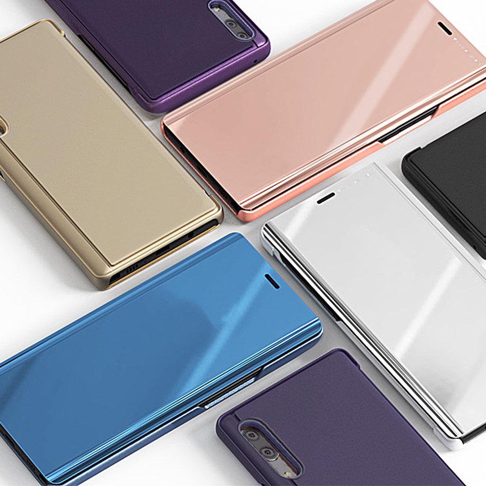 샤오미 홍미노트7 스탠딩 미러커버 하드 케이스 휴대폰