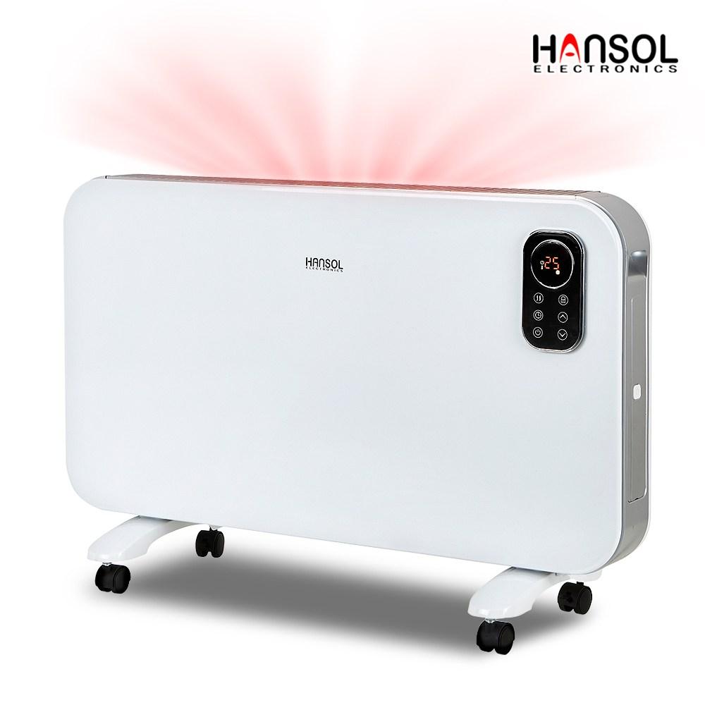 한솔일렉트로닉스 리모컨 전기 컨벡터 히터 HEH-C2000WB 전기히터 벽걸이히터 화장실 동파방지