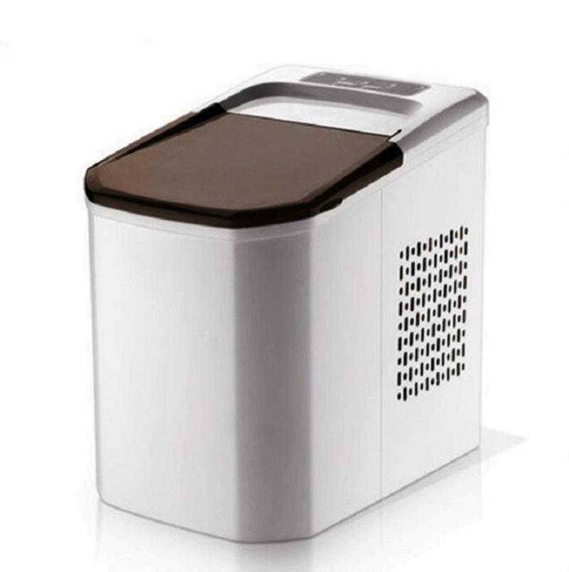 가정용 제빙기 휴대용 미니 제빙기 작은 얼음 기계 가정 학생 기숙사 미니 상업 우유 차 가게 아이스 큐브 만드는 기계 얼음제빙기 가정용미니제빙기, 은 (POP 5734280938)