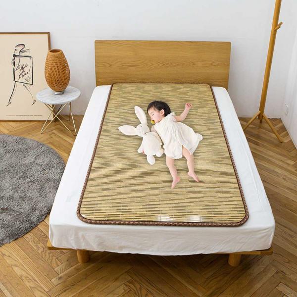 한일의료기 논슬립 대자리 대나무 쿠션 매트 원목카펫 여름돗자리 거실용 아이방 꿀잠매트 (POP 5196762866)