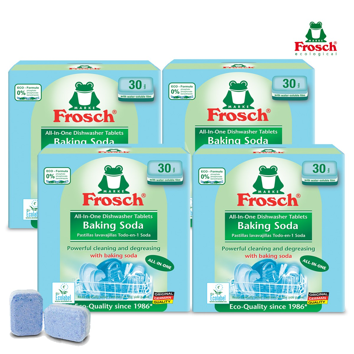 프로쉬 올인원 식기세척기전용세제 (소다-30개입)X4개, 단품