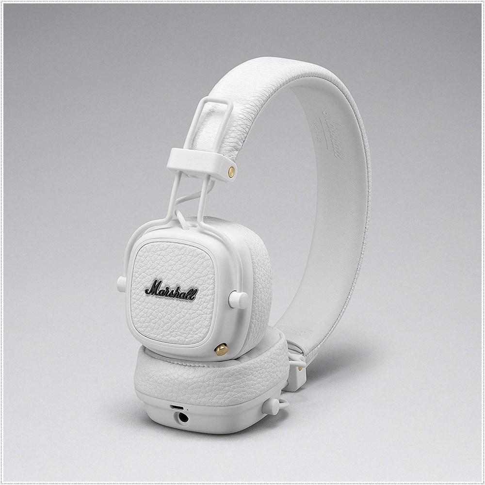 마샬 메이저3 블루투스 헤드폰, White 4092188