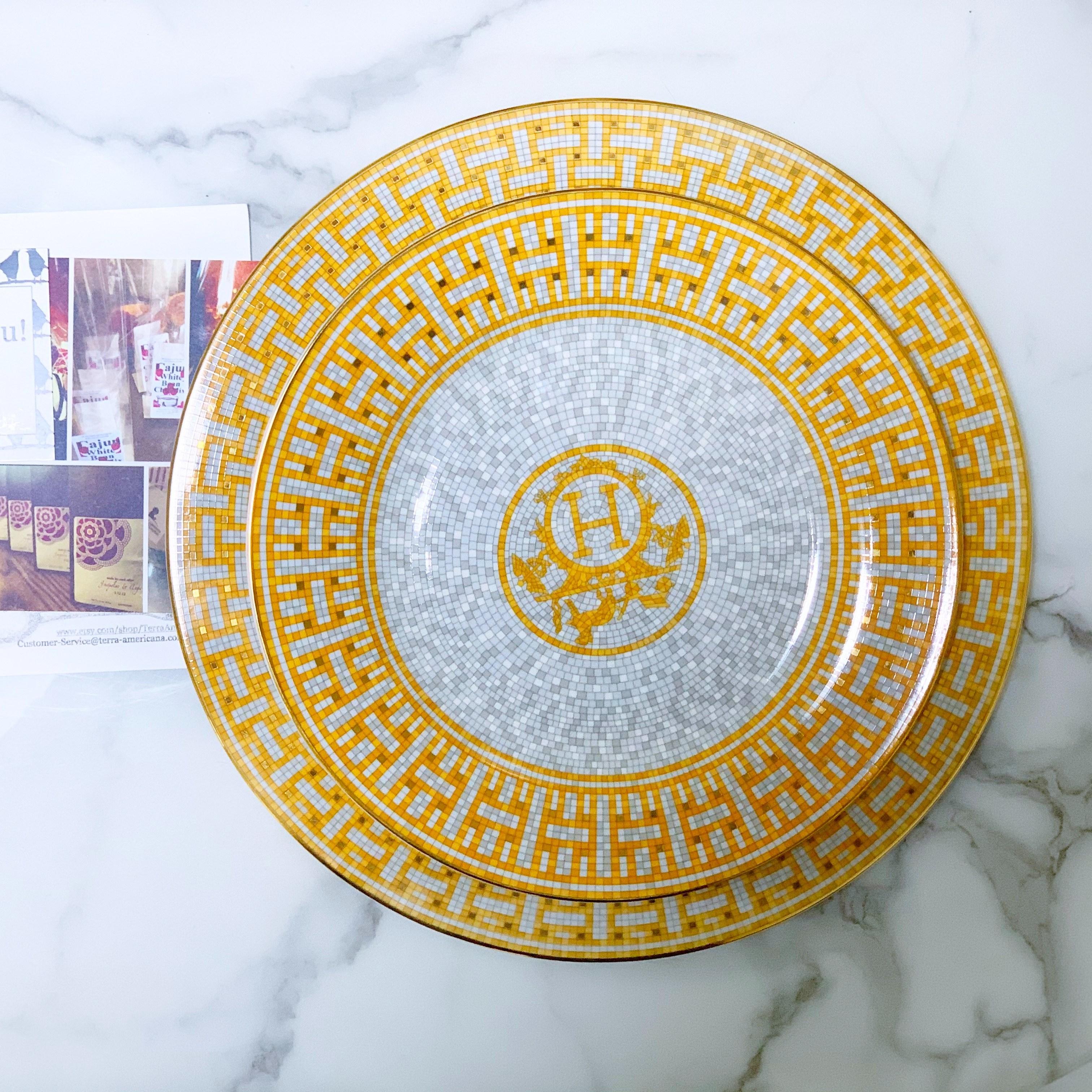 피카홈 모자이크 H플레이트 접시, 2개, 디자인1