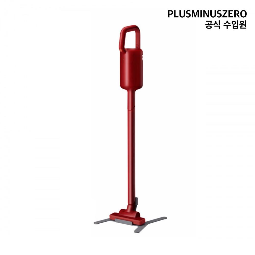 플러스마이너스제로 +-0 무선 청소기 Y010 (국내 정식 수입) 스틱청소기, Clear레드