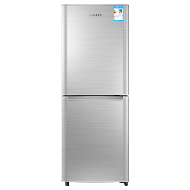 소형냉장고 AUX/BCD-146AD더블도어 소형 냉장 냉동 전기냉장고 가정용 에너지, T01-무늬 실버