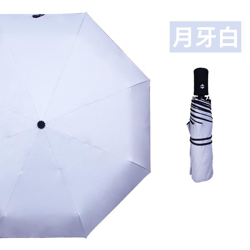자동양산 전자동 여성용우산 우양산 상큼 애니메이션 블랙고무 더블층 휴대용 자외선차단 자외선방지우산 외부 양산